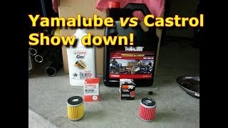 Oil Filter and Oil Showdown! Yamalube Oil vs. Castrol Synthetic Oil, and Conventional Oil