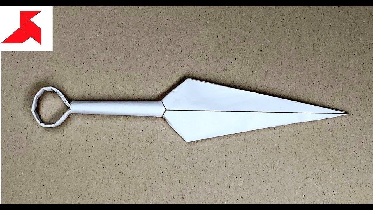 Как сделать оригами кунай 189