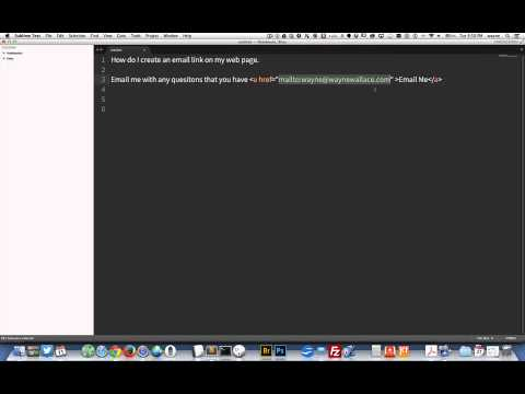 How To Create An Email Link In Html