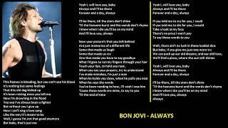 Bon Jovi - Always (karaoke lower key 4)