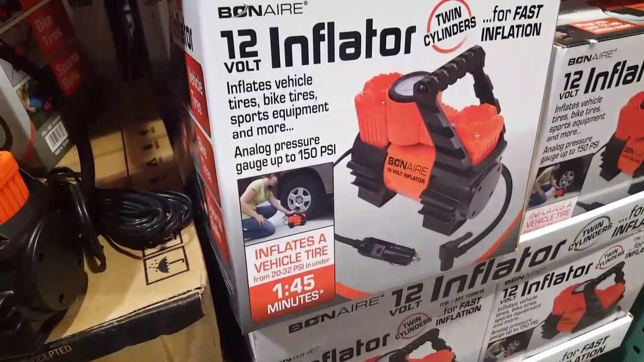 Costco Bon Aire 12 Volt Inflator Twin Cylinders