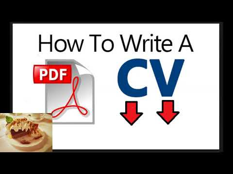 Try Immediately And Learn  How To Write Cv Pdf