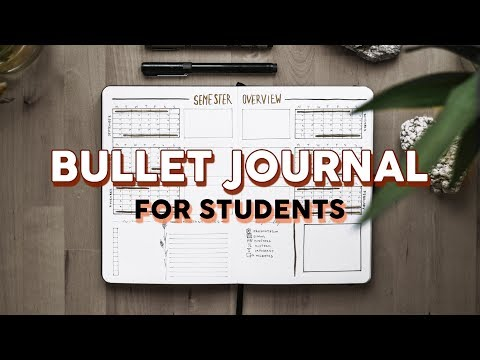 Bullet Journaling for STUDENTS ♡ BACK TO SCHOOL spreads for University 🌷