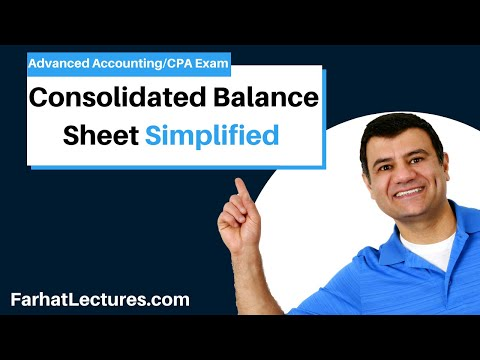 Consolidated Balance Sheet Elimination of Investment | Advanced Accounting | CPA Exam FAR | Ch 3 P 2