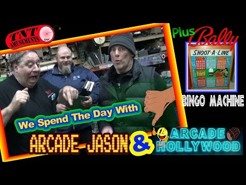 #1246 Visit from ARCADE HOLLYWOOD & ARCADE JASON! Plus Shoot A Line Bingo!  TNT Amusements