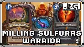 MILLING SULFURAS Warrior | KnC Mill Rogue Deck | Hearthstone Gameplay | PlayStationGenius