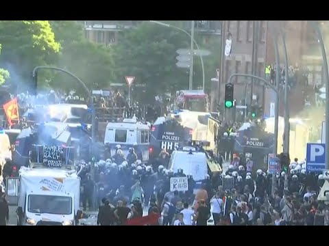 Police use pepper spray, water cannons on G20 protesters