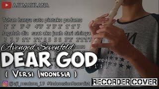 Not Angka DEAR GOD (Versi Indonesia)   Recorder Cover (By Aji Maulana)