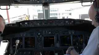 TUI Fly Nordic - 737-800 Cockpit Start up, Taxi, Take off from Lanzarote - BLX638