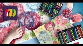 Как сделать супер ЦВЕТЫ из мыльных пузырей | Урок рисования и творчества | Повторяй За Мной