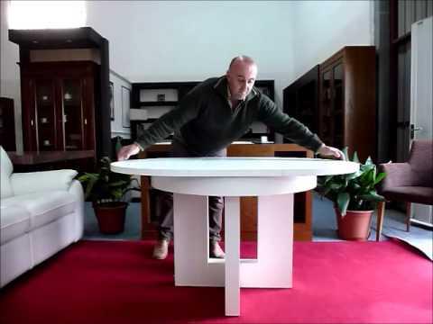 Mesa redonda extensible elíptica. Muebles Artenogal Sonseca (Toledo ...