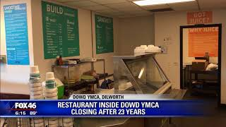Restaurant inside YMCA closing after 23 years