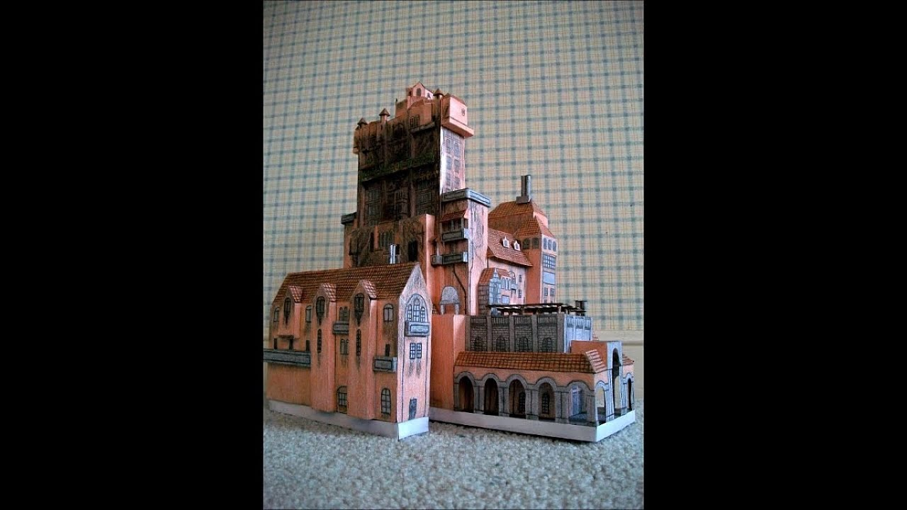 Papercraft Paper Model of The Twilight Zone Tower of Terror Attraction [The Hollywood Tower Hotel]