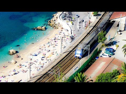 Riding the Train On The French Riviera, From Monaco to Nice, France