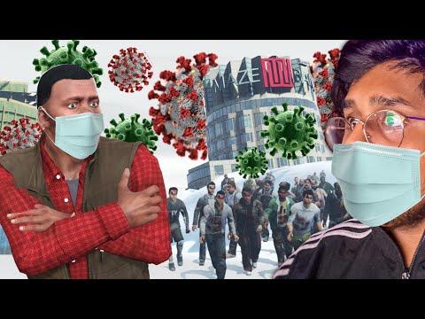CORONA VIRUS ATTACK IN GTA 5 | Hindi
