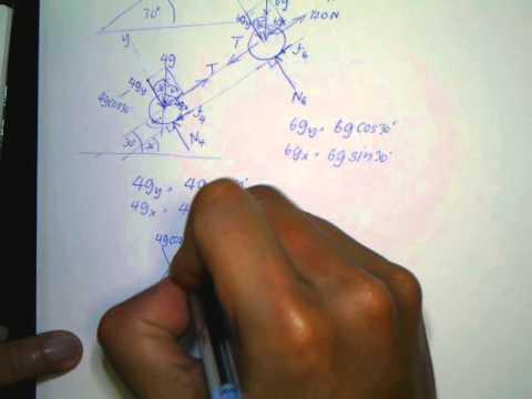 ฟิสิกส์ ม.4 กฏการเคลื่อนที่ โจทย์พื้นเอียงที่มีแรงเสียดทาน