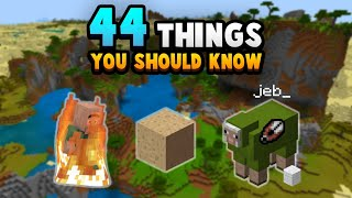 44 Things You NEED To Know About Survival Minecraft