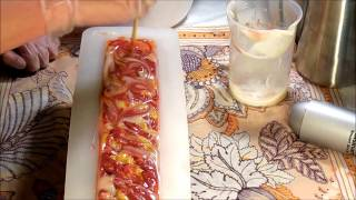 """Making and cutting """"Pure Amber"""" Cold process soap"""