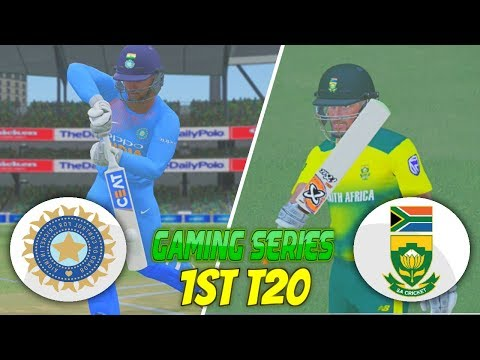 INDIA vs SOUTH AFRICA 2018 1ST T20 - ASHES CRICKET 17 (GAMING SERIES)