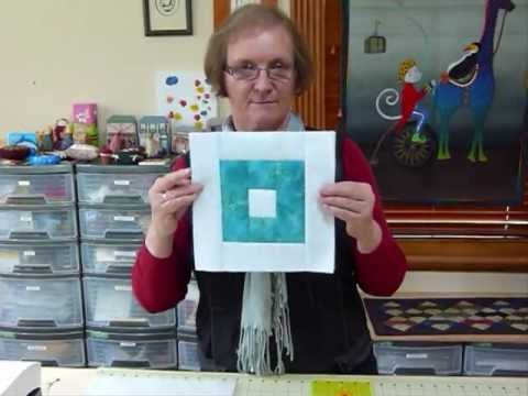 How to make a Quilt as you Go reversible square block - Quilting Tips & Techniques 111 - YouTube
