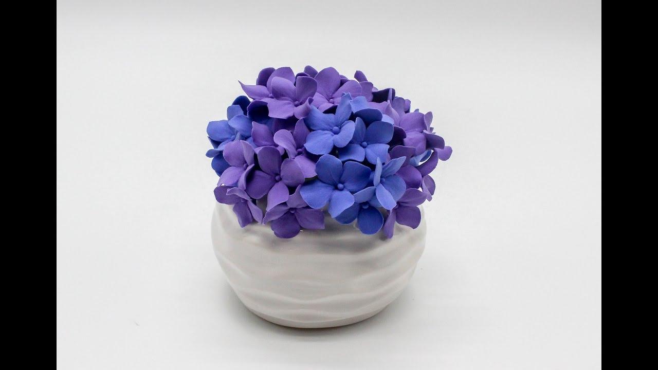 diy deco clay flower tutorial how to make hydrangeas