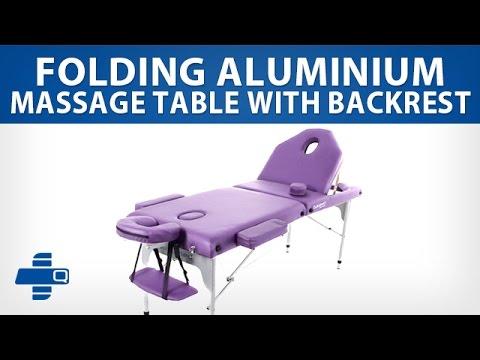 Folding Aluminium Massage Table with Backrest (579-A2L-AZ)