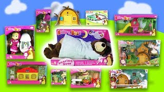 """The best of """"Masha and the bear"""": 1 hour of fun, dolls, houses, stories   For children"""