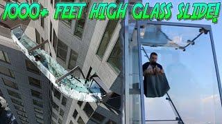 FALLING OFF THE WORLDS HIGHEST GLASS SLIDE! 1000+ FEET HIGH