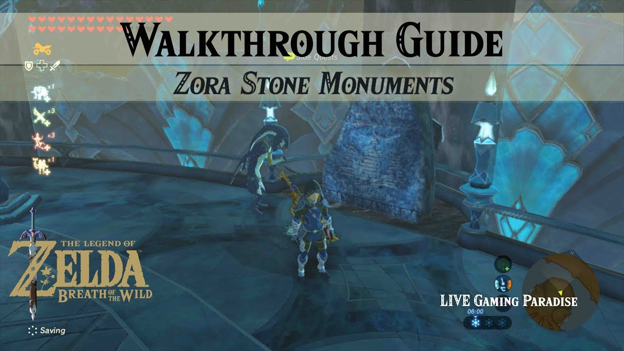 Breath Of The Wild Zora Stone Monuments Walkthrough Guide