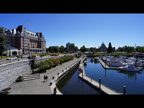 Downtown Victoria, British Columbia - Walking Tour In 4K (UHD)