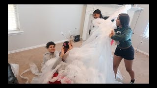 """BUBBLE WRAPPING YOUR HOUSE"" PRANK ON JAZZ AND TAE FT. JOSH!!"