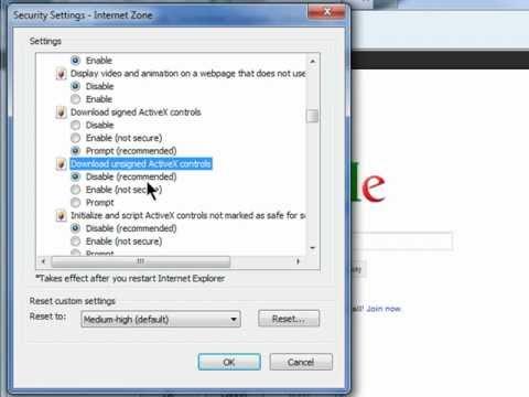 Unblock activex to view htvsi dvr through internet explorer youtube