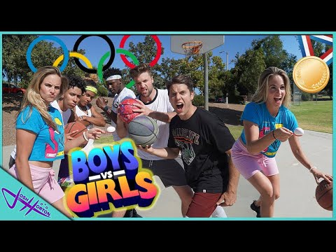 BOYS vs GIRLS BASKETBALL OLYMPICS! from YouTube · Duration:  16 minutes 1 seconds