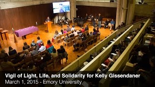 Vigil of Light, Life, and Solidarity for Kelly Gissendaner (March 1, 2015 - Emory University)