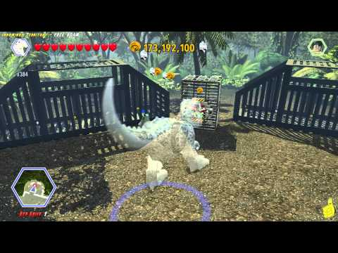 Lego Jurassic World: Indominus Territory FREE ROAM (All Collectibles) - HTG