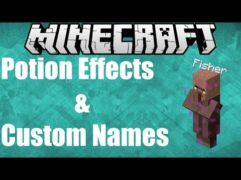 Summon Mobs With Potion Effects And Custom Names