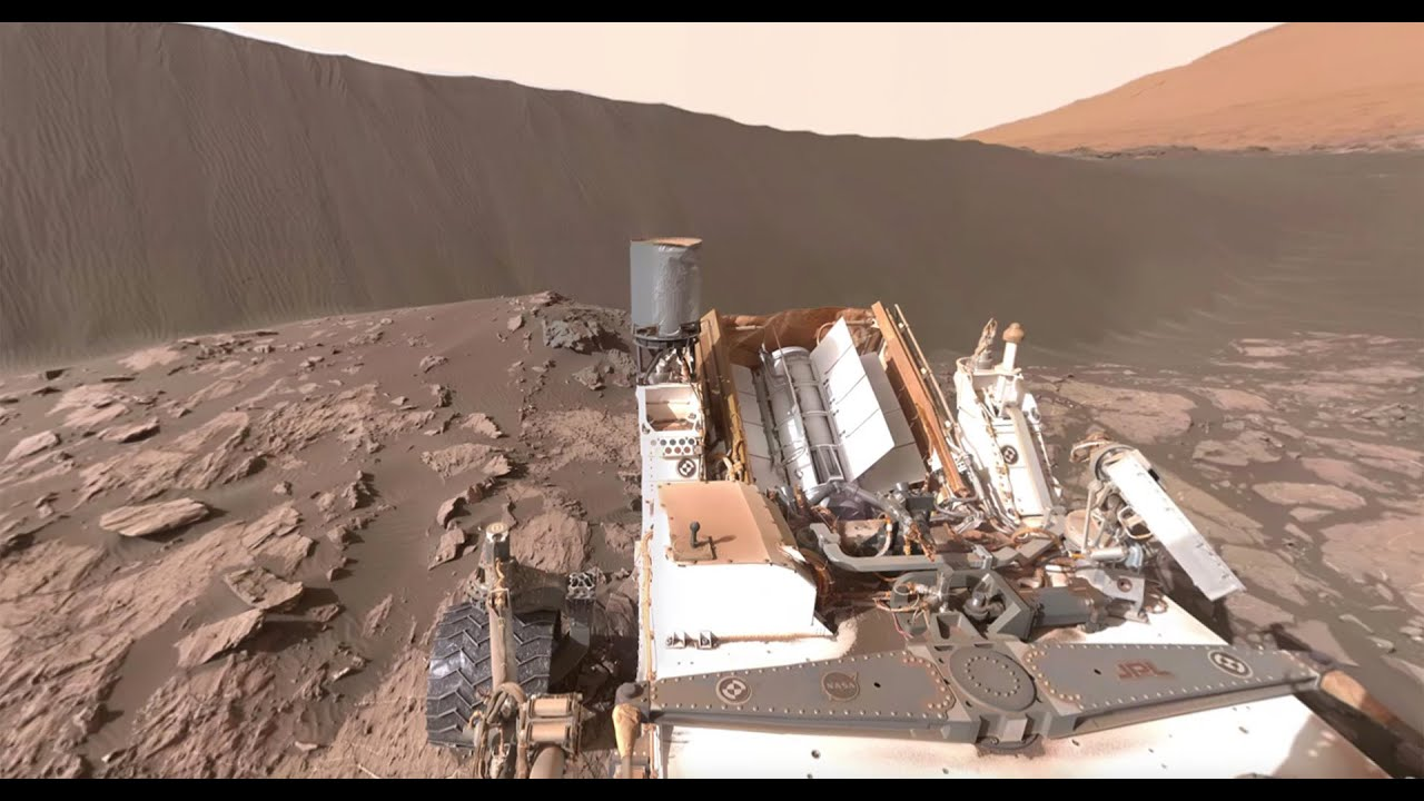 NASA's Curiosity Mars Rover at Namib Dune (360 view) - YouTube