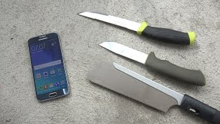 Samsung Galaxy S6 Knife Scratch Test (4K)