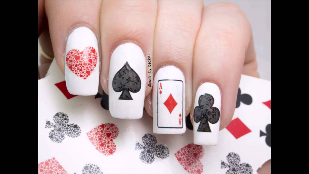 Playing cards Nail Art By Kaz Creations and supported by Becky ...