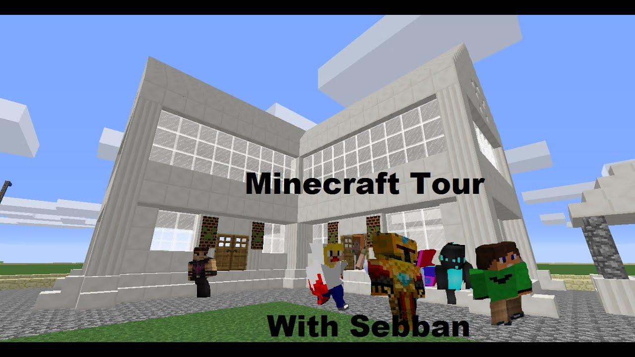 Minecraft Tour Luxery Quartz House