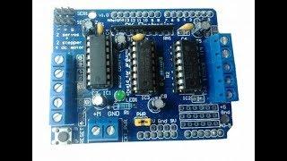 controler un moteur DC a l'aide d'un arduino sheild L293D