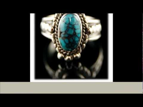 Beautiful Womens Tibetan Turquoise Ring Size 10