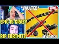 Streamers React to COMBAT SHOTGUN *VAULTED* & DRUM SHOTGUN + PROXIMITY LAUNCHER *REMOVED*!!