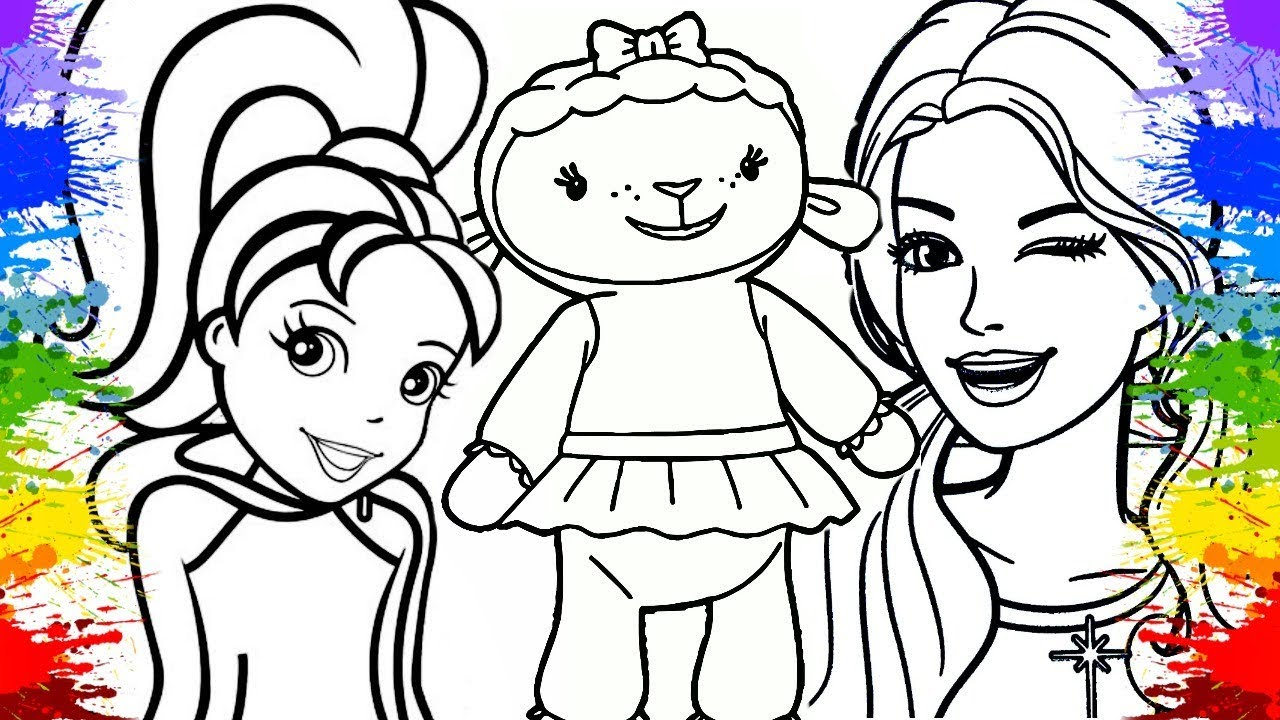Colorindo Desenho Da Polly Pocket Barbie E Doutora