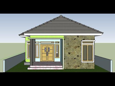 contoh desain rumah ukuran 7x10 meter model terbaru