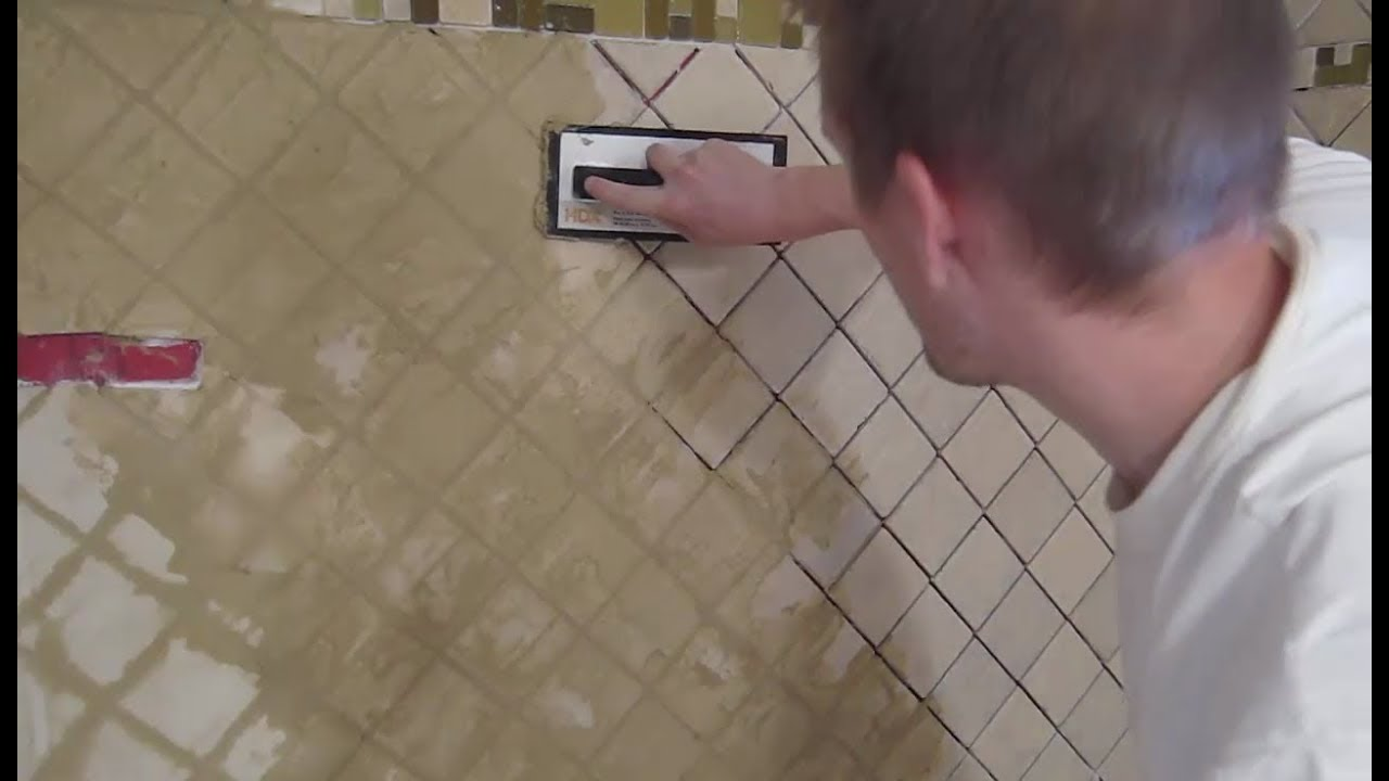 Shower Tile Grout Small Bathroom Remodel Part 4
