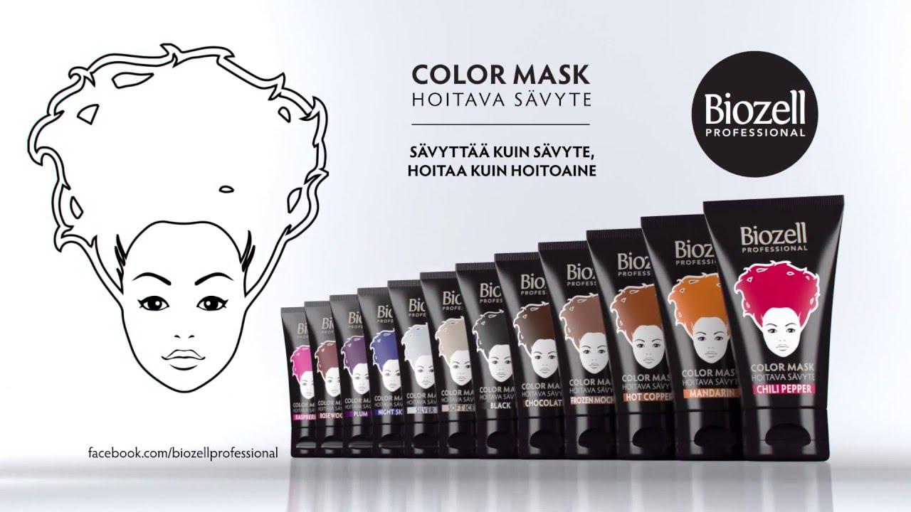 biozell professional color mask hoitavat sävytteet - youtube