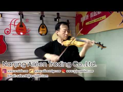 [Aileen Music] Nice Sound Carbon Fiber Electric Violin supplier