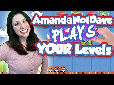 #AmandaNotDave Plays YOUR Mario Maker Levels!! & Baby DGR Gender Reveal!!