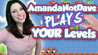 #AmandaNotDave Plays YOUR Mario Maker Levels!! & Baby DGR Gender Reveal!!